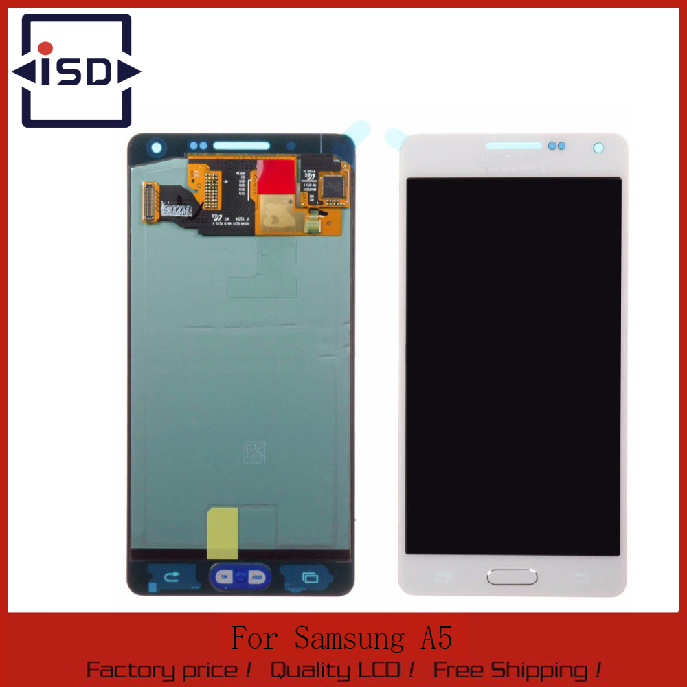 White LCD For samsung Galaxy A5 A500 A5000 LCD Display touch screen with digitizer Assembly free shipping
