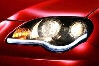 1pair Led Headlight Assy Led Light Bar Single Lens Head Lamps Tuning Daytime Running Lights Fit