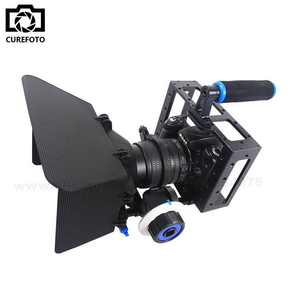 De poche DSLR Rig Caméra Cage Set Follow Focus Matte Box pour Canon 5D2 5D3 6D 7D 60D 70D 5D Film faire Photo Studio Accessoires