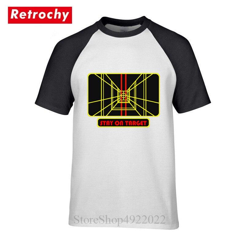 3d Gedruckt Star Wars Bleiben Auf Ziel Männer T Shirt Lustige Computer Geometrische Vision T-shirts Sci-fi Jedi Hipster Mann Kleidung T-shirt üBerlegene Leistung
