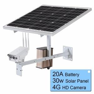 Image 5 - 30 W GÜNEŞ PANELI CCTV Wi fi IP Kamera 1080 P HD 3G 4G SIM Kart Açık Su Geçirmez Güç 20A pil Gözetleme Dış Kamera