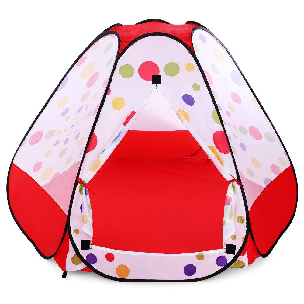 Детская палатка pop-up Крытый Открытый игрушки играть дома легкий pop-up открытым Дизайн дышащая Пикник на заднем дворе Кемпинг палатка 2017