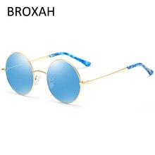 BROXAH Round Sunglasses Men Women 2019 Retro Metal Frame Car Driving Glasses Ladies Shades UV400 Lunette De Soleil Homme Femme