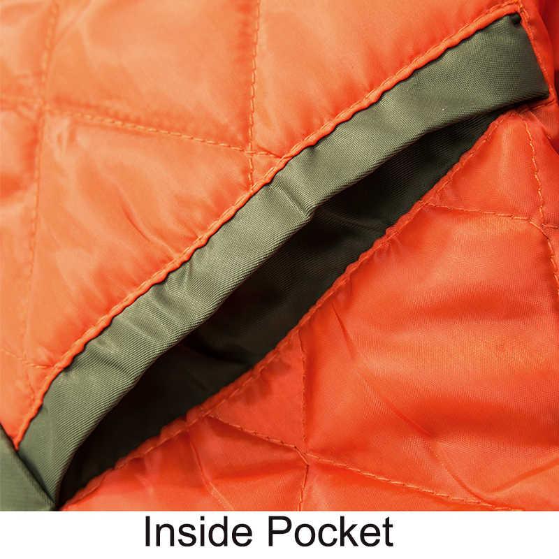 Erkekler ceketler bombacı kalınlaşmak pamuk mont kış sonbahar erkek Pilot ceket erkek büyük boy 7XL 8XL erkek palto damla nakliye, ZA219