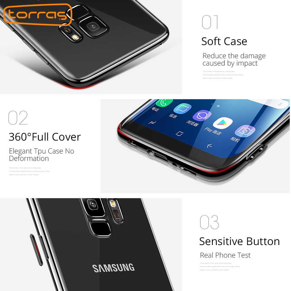 official photos e91a9 e1d9e Torras For Samsung S9 Case Cover Shockproof 360 Full Cover For Galaxy S9  Cases Soft Transparent For samsung s9 coque gel Tpu