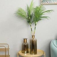 Flone Artificial Palm Leaves Tropical Simulation Plant Plastic Fake leaves Bouquet Wedding Home Desktop Flower Arrangement Decor