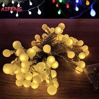 AIFENG Lichterkette 10 Mt 80 Leds Ball String Led Girlande AA Batteriebetriebene Lichterkette Für Weihnachten Hochzeit urlaub Dekor