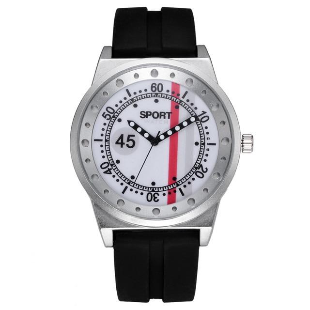 Sport Watch 2018 Fashion Retro Design Clock men Leather Band Analog Alloy Quartz