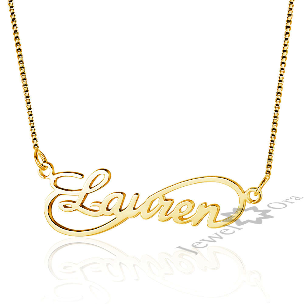 Customized DIY Any Name Necklace 925 Sterling Silver Pendant Infinity Necklaces Personalized Jewelry Girlfriends Gift Free Box