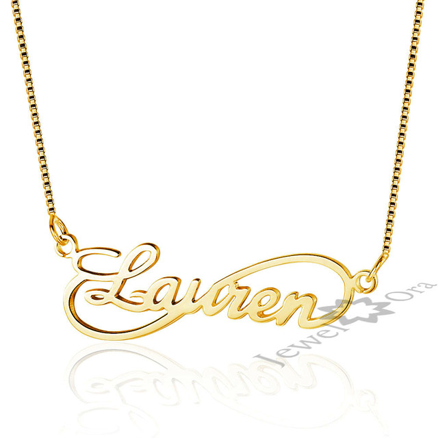 Customized diy any name necklace 925 sterling silver pendant customized diy any name necklace 925 sterling silver pendant infinity necklaces personalized jewelry girlfriends gift free aloadofball Images