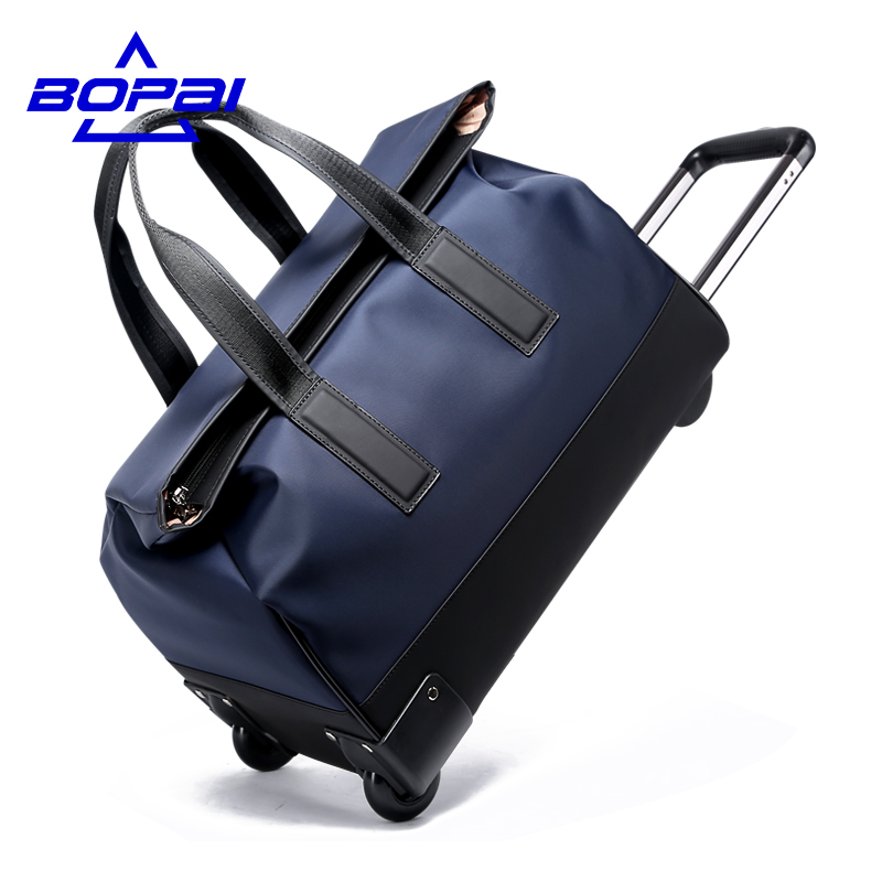 BOPAI High Quality Travel Bag On Wheels Women Rolling Luggage 20 Inches Men Trolley  Bags Waterproof Hand Luggage duffle bags f15d07242626f
