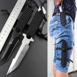 Stainless steel survival knife faca navajas leggings diving straight knife outdoor camping pocket knife tactical knife.jpg 250x250