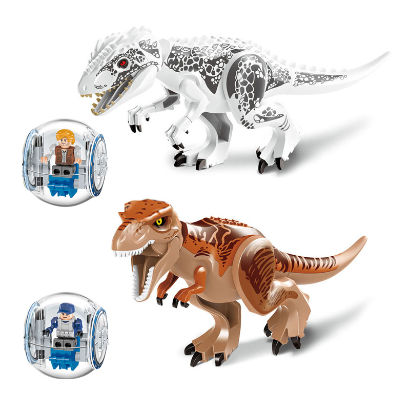 Original Jurassic World Tyrannosaurus Building Blocks Jurrassic Park 4 Dinosaur Figures Bricks Toys Compatible