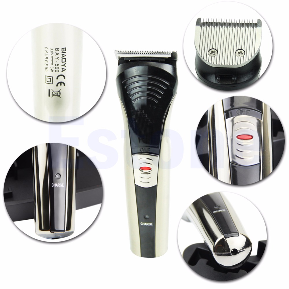 New Cordless Rechargeable Beard Mustache Trimmer Hair Shaver Clipper Groomer hair clipper rechargeable electronical cordless mustache beard trimmer haircut equipment for adult