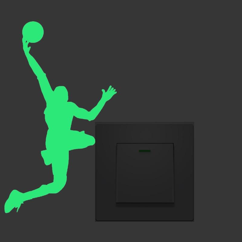 Nový 1PCS Luminous Play basketbal DIY Switch Sticker pro dětský pokoj Nástěnná Nálepka Dekorace Zářivka Obývací pokoj Domácí Dekorace