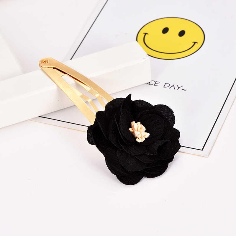 אופנה חמוד פרח ילדי שיער תכשיטי ילדה ורוד שיער קליפ חתונה נזר שיפון סרט שיער קישוטי שיער אביזרי עבור נשים
