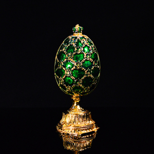 Image 5 - QIFU 러시아 빨간색 파란색 녹색 Faberge 계란과 미니어처 성 홈 장식 선물에 대 한 공예에