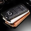 FLOVEME Для iPhone5 iPhone5s Капа Делам Металла Алюминиевый Бампер + мягкий Кожаный Чехол Для iPhone 5 5S SE Роскошный Гибридный Shell