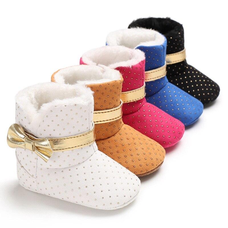 0-18 monate Lässige Newborn Infant Baby Mädchen Jungen Knöchel Schnee Stiefel rutsch Winter Halb Stiefel Weichen unten Warm Halten Plüsch Schuhe