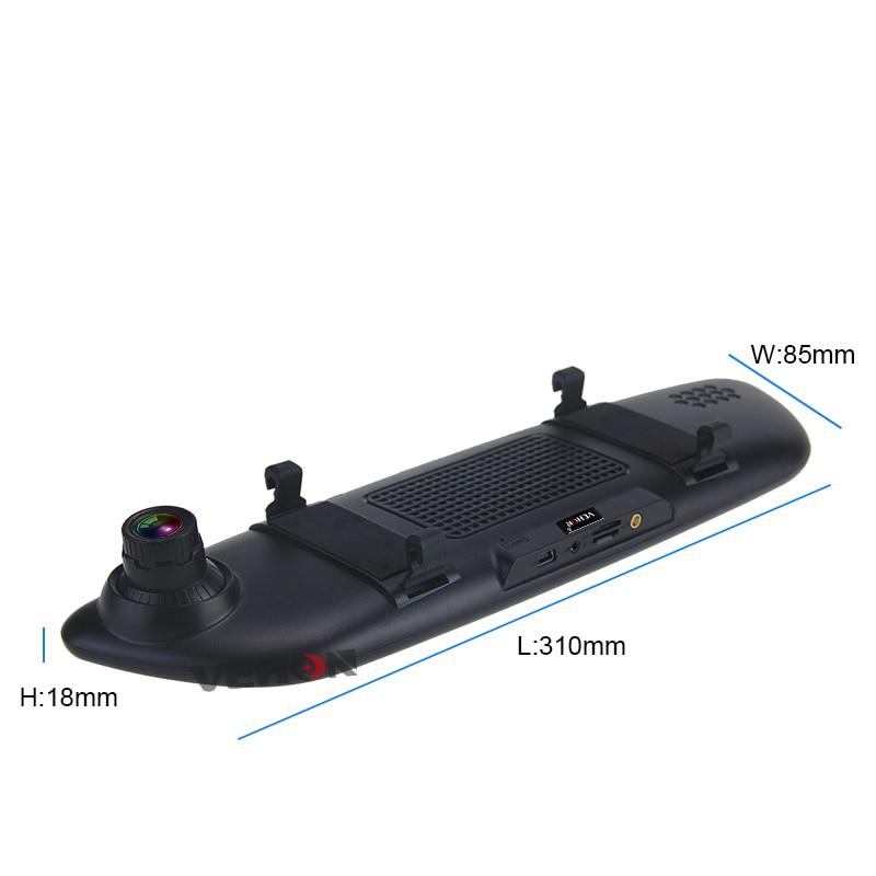 VEHON 7 3G Car Camera DVR GPS Bluetooth Dual Lens Rearview Mirror Video Recorder Full HD 1080P Automobile DVR Mirror Dash cam