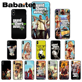 for iphone 11pro max Babaite Grand Theft Auto GTA V Customer Phone Case for iphone X XS MAX 8 7plus 5S SE 6s XR Cover image
