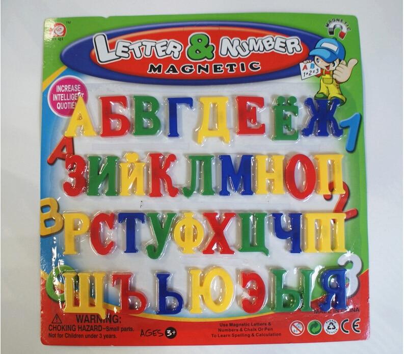 NEW Russian language Alphabet block baby educational toy, Fridge Magnets Alphabet,learning & education toys greeting word style fridge magnets 4 pack