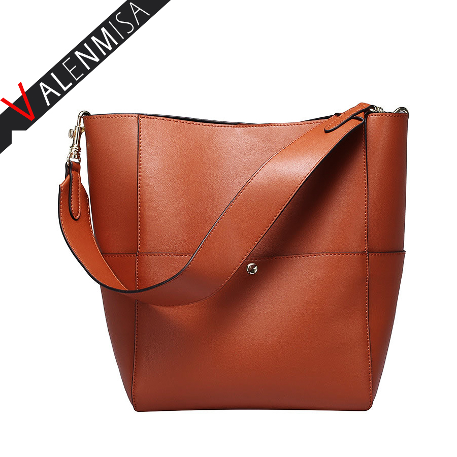 New Genuine Leather Women Bucket Bags Luxurious Women Messenger Bags Fashion Brand Designer Handbags Shoulder Bag Bolsa Feminina new genuine leather women bag messenger bags casual shoulder bags famous brand fashion designer handbag bucket women totes 2017