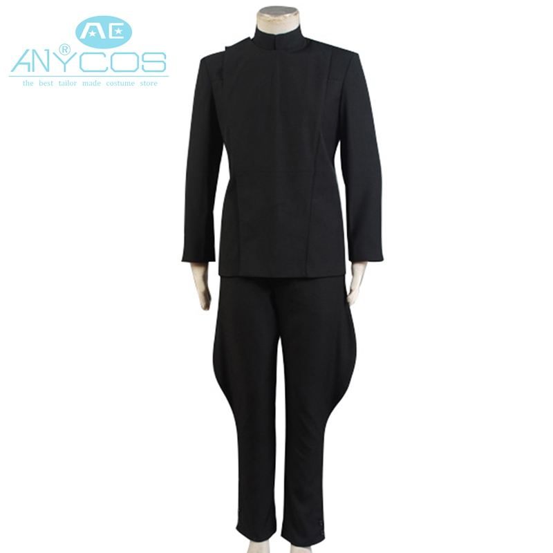 Star Wars Cosplay Costume Imperial Officer Uniform Black Jacket Pants For Men Halloween Cosplay Costume Deluxe Version