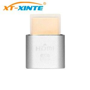 Silver Virtual Display Adapter Dummy Plug HDMI 1.4 DDC EDID Headless Ghost Display Emulator Fit Headless-4K 1920x1080@60Hz