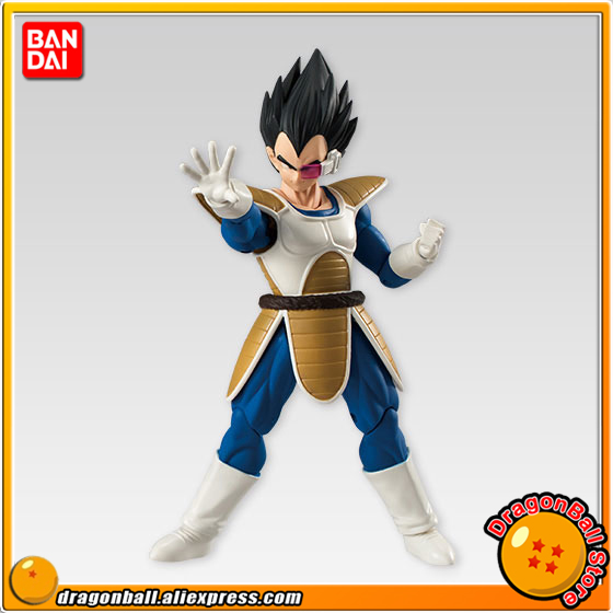 Japan Anime Dragon Ball Z Original BANDAI Tamashii Nations SHODO Vol.4 Action Figure - Vegeta (9cm tall) 100% original bandai tamashii nations buddies no 015 collection figure vegeta from dragon ball z