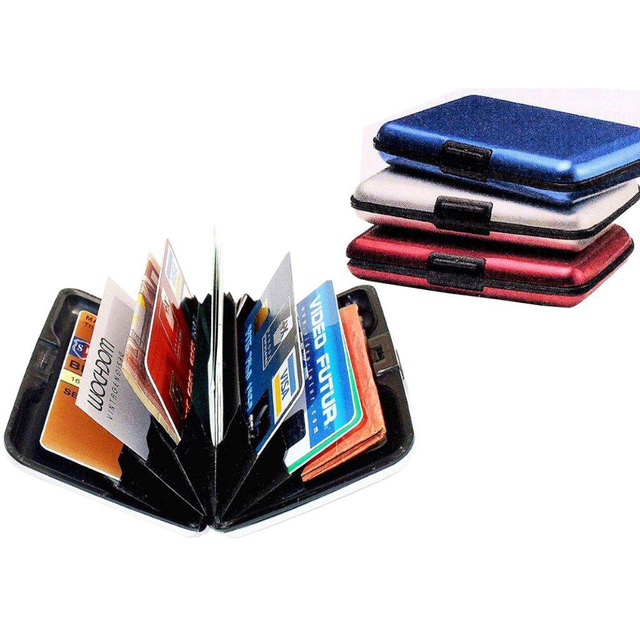 Wholesale 10* COFA Aluminum Credit Card ID Holder / Wallet, Light Weight - RED