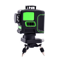 NEW 3D 12 Lines Green Blue Laser Level with Bracket Laser Beam Line Self Leveling 360 Horizontal Vertical Cross Powerful