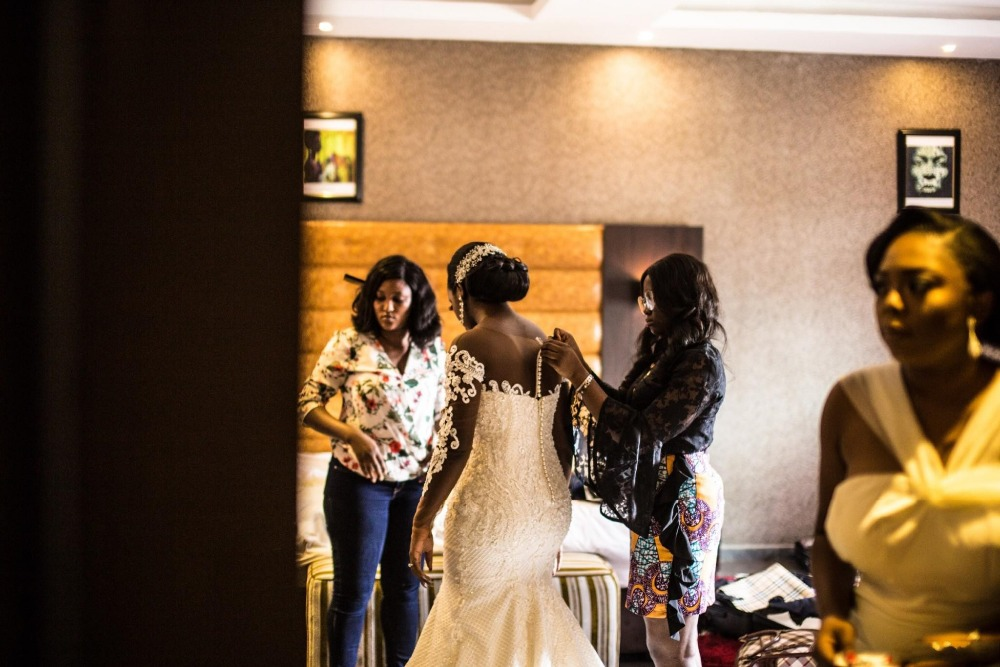 Image 2 - Vintage African Mermaid Wedding Dresses 2019 Vestido De Noiva Long Sleeve Lace Wedding Gowns Black Girl Women Bride Dress-in Wedding Dresses from Weddings & Events