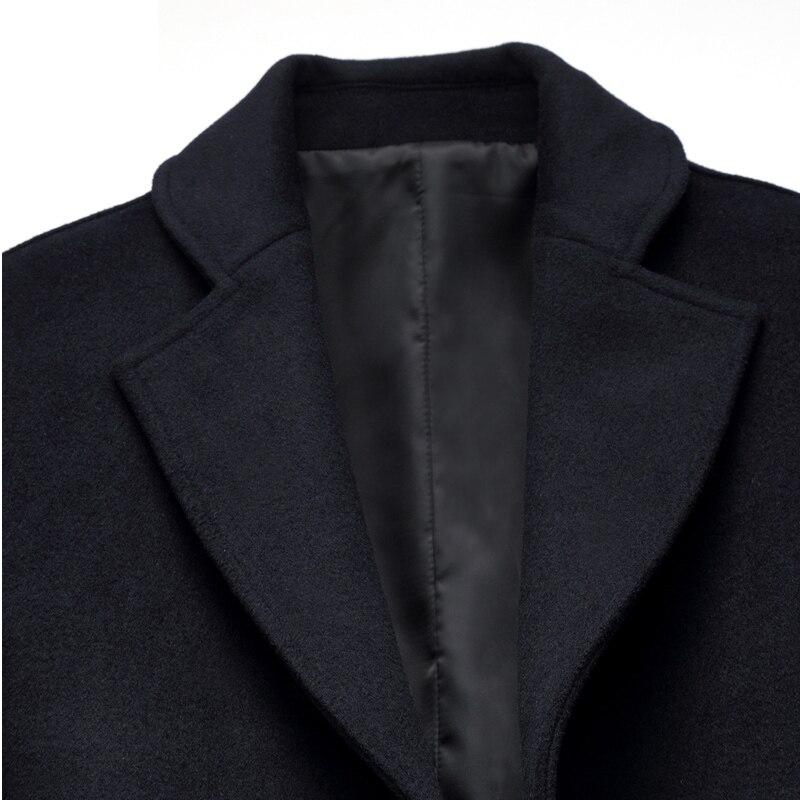 Abrigo ropa Con Red Black Lana Hombres Sólido Gray Marca Invierno Fit Mezclas 2018 Calidad Medio De Estilo Los wine dark Gabardina Mens Silm Para navy c0SHqWwt7q