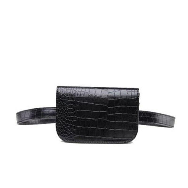 Vintage Waist Bag Women Alligator PU Leather Belt Bag Waist Pack Travel Belt Wallets Fanny Waist Bags For Women 2018