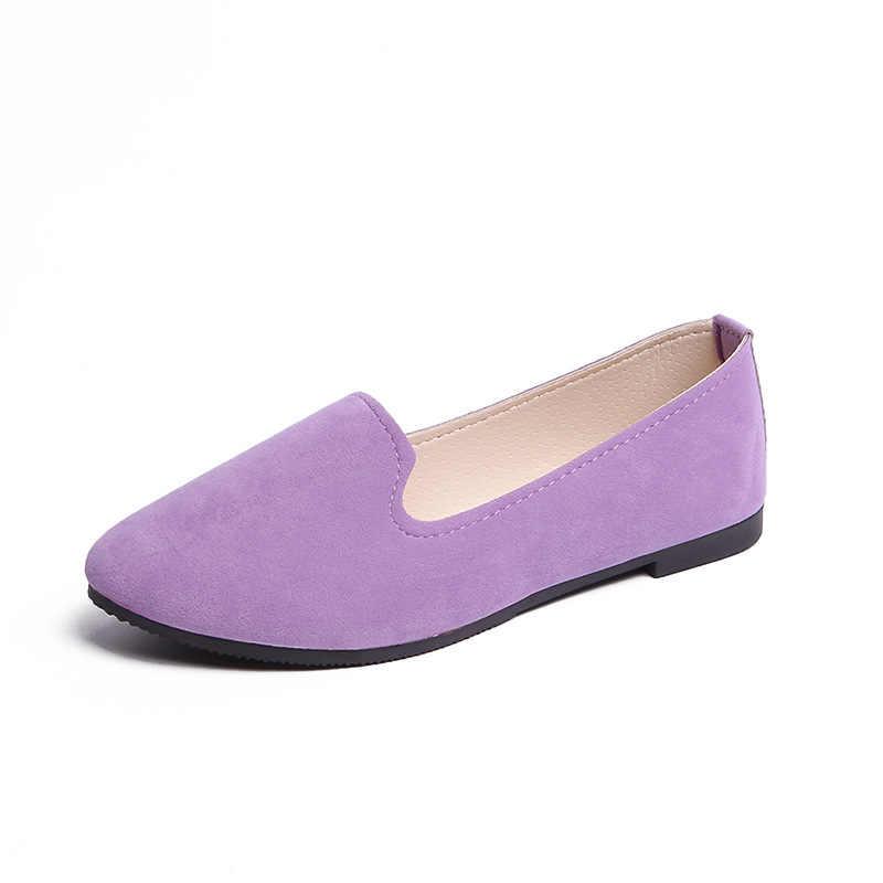 Primavera Verano mujer zapatos planos mujer Ballet pisos Color caramelo señoras zapatos gran tamaño otoño Casual zapatos mujeres mocasines WSH2216