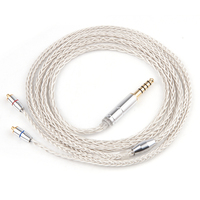 AK New LZ Silver Plated Earphone Cable 3 5mm 2 5mm Upgrade Silver Cable With MMCX