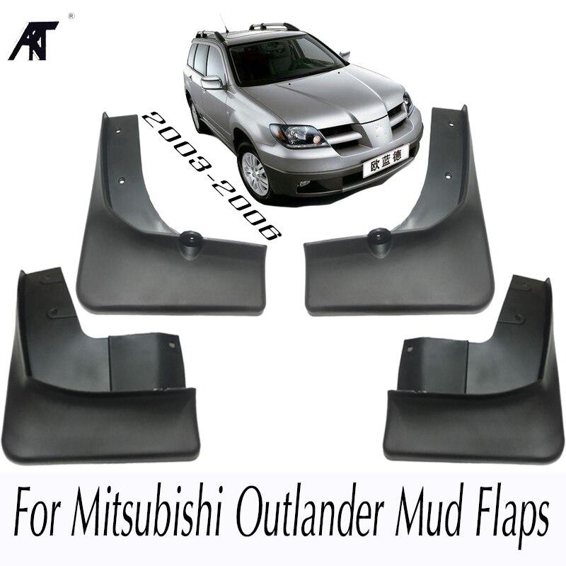 Брызговики для Mitsubishi Outlander 2003 2004 2006 заднее крыло спереди 2005 автомобиля Брызговики Fender