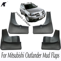 Mud Flap For Mitsubishi Outlander 2003 2004 2005 2006 Front Rear Molded Car Mud Flaps Mudflaps Splash Guards Mudguards Fender