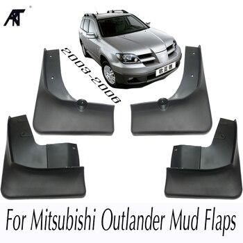 Schlamm Klappe Für Mitsubishi Outlander 2003 2004 2005 2006 Vorne Hinten Geformt Auto Schlamm Klappen Schmutzfänger Splash Guards Kotflügel kotflügel