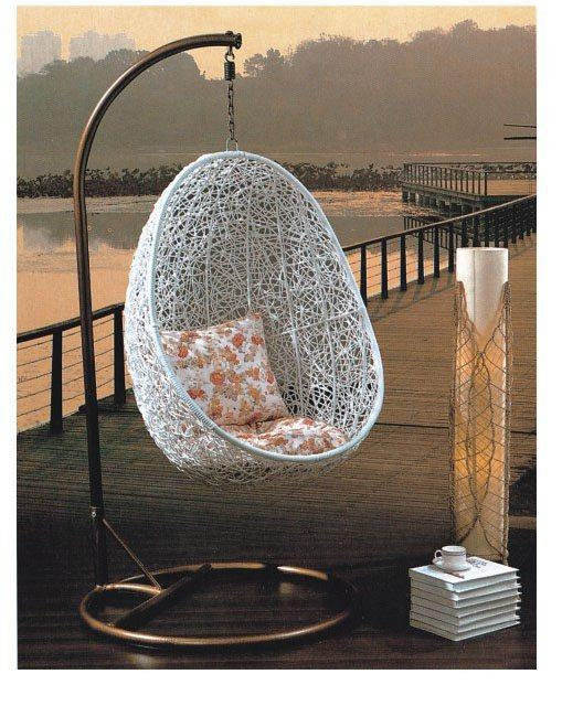 Swing basket hanging chair cradle outdoor indoor hanging basket fashion furni - Oeuf de jardin suspendu ...