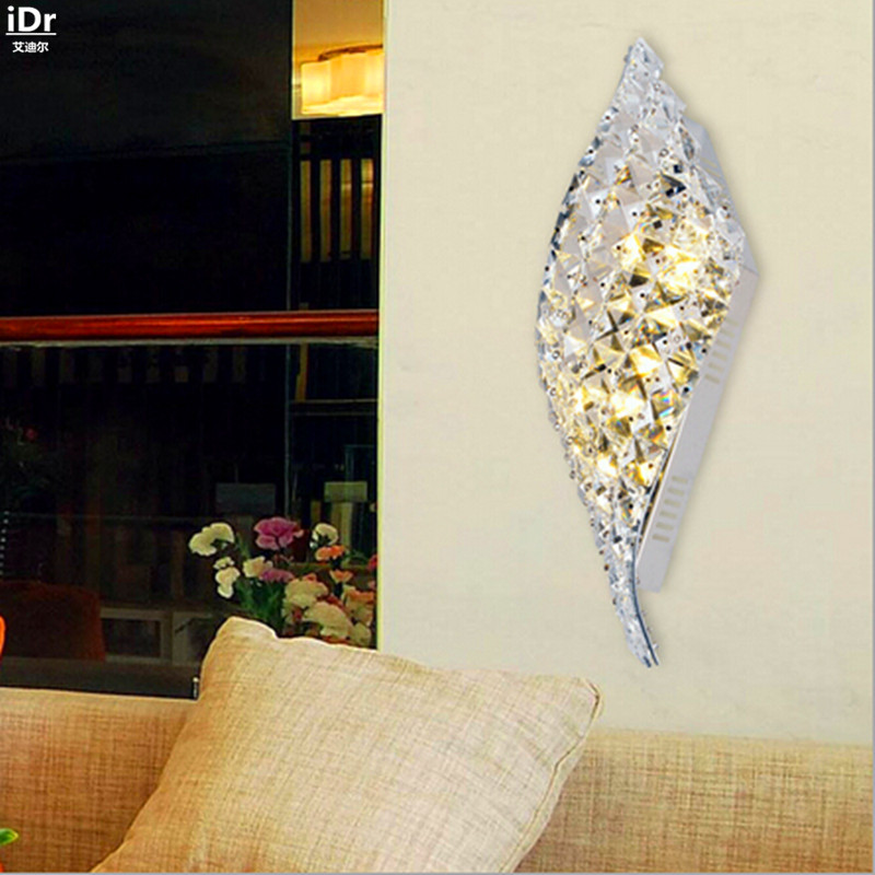 Simple modern crystal wall lamp LED decorative lamps bedroom den living room hallway hallway Wall Lamps
