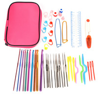 22pcs Set Metal Colored Hook Set Including Knitting Tools Accessories Hand Sewing Tool Set Needles Stitches