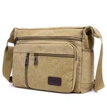 Большая вместительная холщовая сумка-мессенджер для мужчин, многофункциональная Мужская школьная сумка через плечо для мальчиков, больше внутренних сумок через плечо