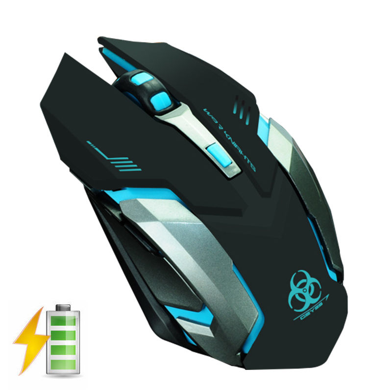 EVESKY X7 2.4GHz Wireless Rechargeable LED Backlit USB Optical Ergonomic Silent Gaming Gamer Mouse 2400DPI + 6 Buttons PC Laptop