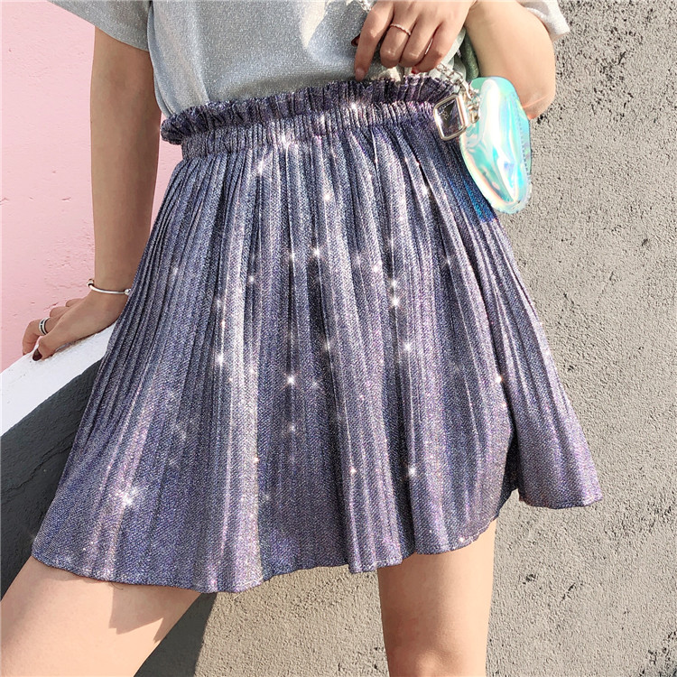 Snordic Skirt Female Summer Casual 2018 New Ins Skirt Hot Flash High Waist Pleated Elegant Chic Fluffy a Word Skirt