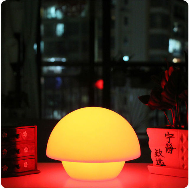 Color Glowing In Dark Cordless Decor Mushroom Lighting Multy - Led table lights for restaurants