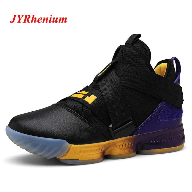 JYRhenium Hot Sale Men Basketball Shoes Comfortable High Top Gym Training Shoes Ankle Boots Men Sneakers Athletic Sport Shoes(China)