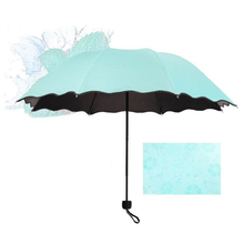 Mini New Lady Princess Magic Flowers Dome Parasol Sun/rain Folding Umbrella Women Anti-Uv For