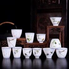 Год 40 мл/50 мл/70 мл 1 шт винтажная китайская старинная художественная Ретро керамическая чашка Индивидуальные свадебные бизнес подарки